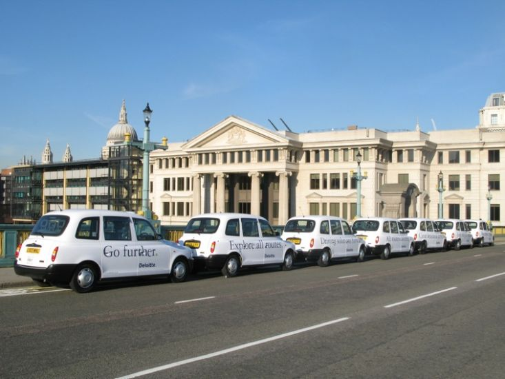 2007 Ubiquitous taxi advertising campaign for Deloitte - Various