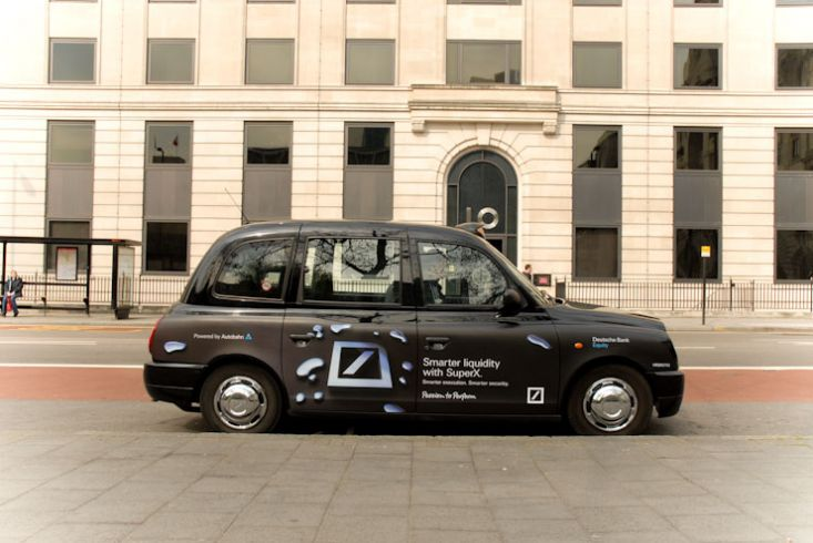 2009 Ubiquitous taxi advertising campaign for Deutsche Bank - Various