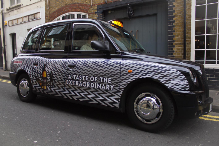 2011 Ubiquitous taxi advertising campaign for Drambuie - A Taste of the Extraordinary