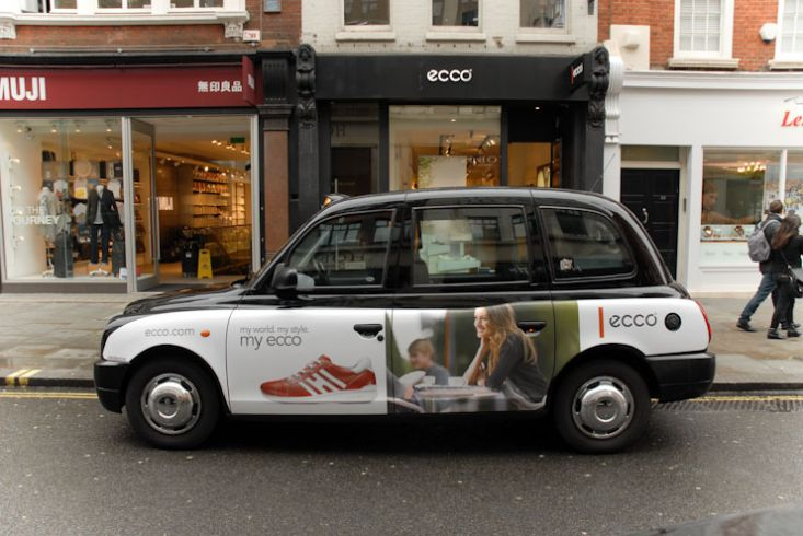 2009 Ubiquitous taxi advertising campaign for ecco - My world, my style, my Ecco