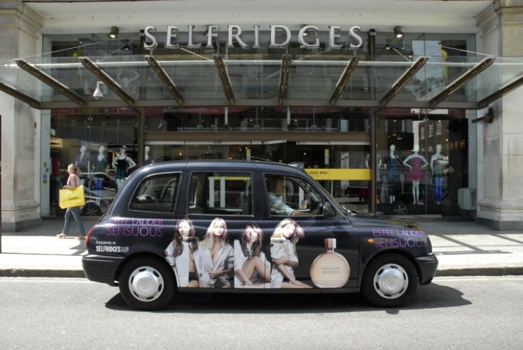 2008 Ubiquitous taxi advertising campaign for Estee Lauder - Sensuous
