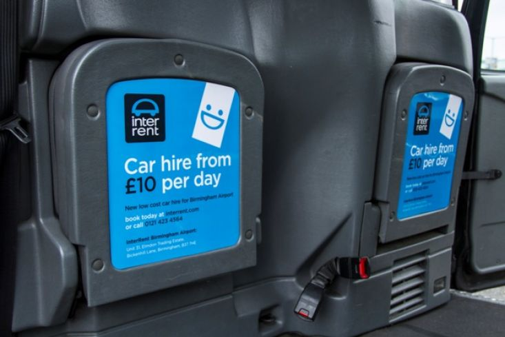 2013 Ubiquitous taxi advertising campaign for Europcar - Car hire from £10 per day