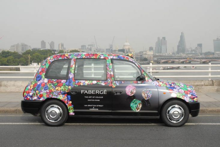 2013 Ubiquitous taxi advertising campaign for Faberge - Fall 2013