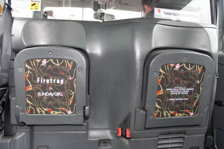 2011 Ubiquitous taxi advertising campaign for Firetrap - Firetrap by Sunday Girl