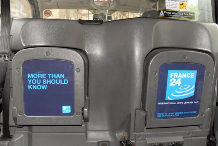 2011 Ubiquitous taxi advertising campaign for France 24 - More Than You Should Know