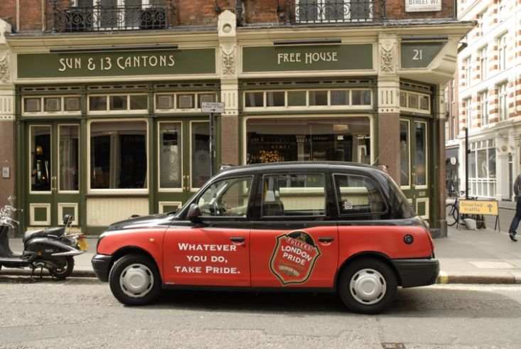 2008 Ubiquitous taxi advertising campaign for Fullers - Whatever You Do Take Pride