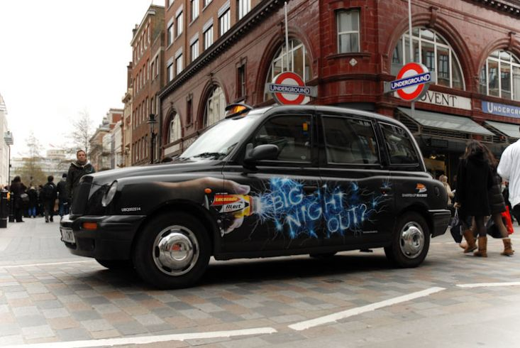 2010 Ubiquitous taxi advertising campaign for GSK - Lucozade: Big Night Out