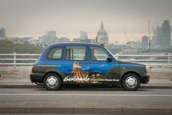 2009 Ubiquitous taxi advertising campaign for Guatemala - Guatemala Heart Of The Mayan World