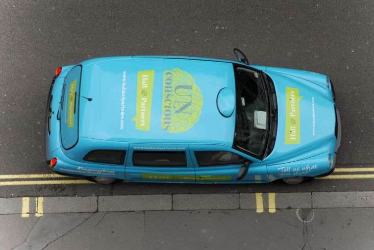 2011 Ubiquitous taxi advertising campaign for Hall & Partners - Engaging Brands