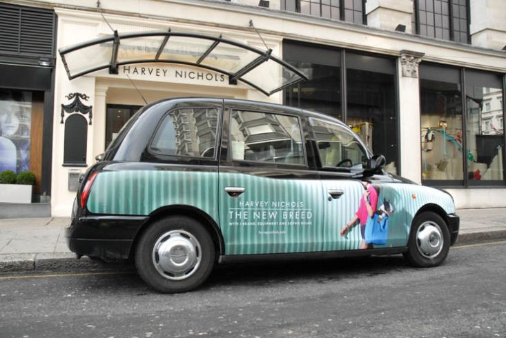 2013 Ubiquitous taxi advertising campaign for Harvey Nichols - The New Breed