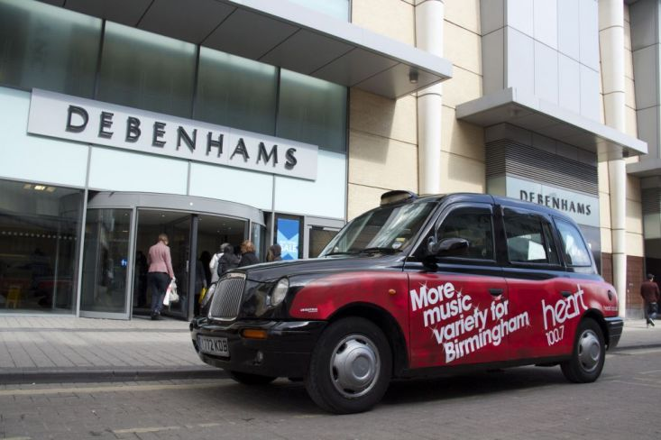 2013 Ubiquitous taxi advertising campaign for Heart - More music variety for Birmingham