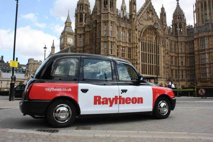 2010 Ubiquitous taxi advertising campaign for Raytheon - Raytheon.co.uk