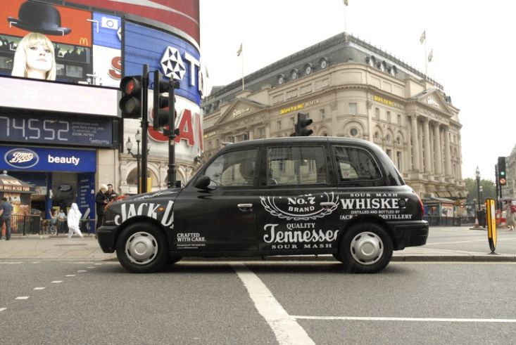 2009 Ubiquitous taxi advertising campaign for Jack Daniels  - Crafted With Care
