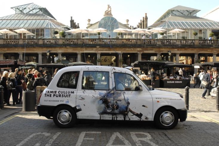 2009 Ubiquitous taxi advertising campaign for Universal Classics - Jamie Cullum New Album Launch