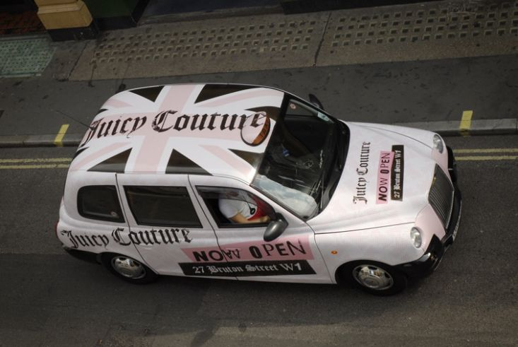 2009 Ubiquitous taxi advertising campaign for Juicy Couture - New Store