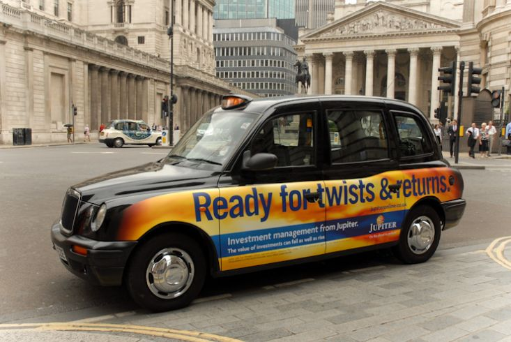 2008 Ubiquitous taxi advertising campaign for Jupiter  - Various
