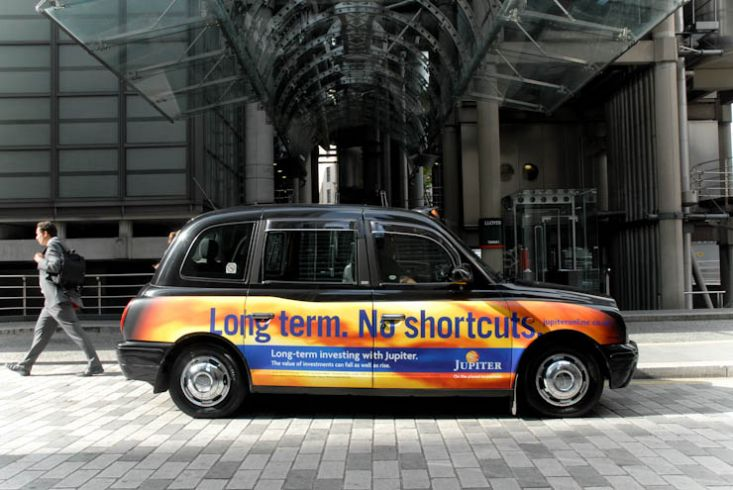2011 Ubiquitous taxi advertising campaign for Jupiter  - Here To Get You There