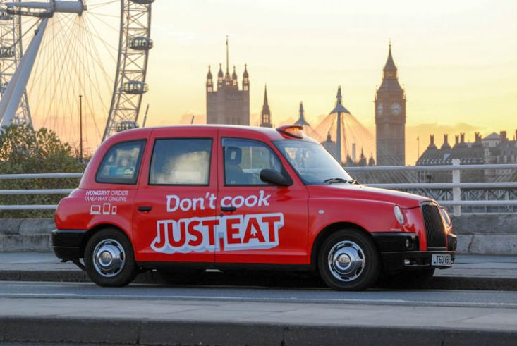 2013 Ubiquitous taxi advertising campaign for Just Eat - Don't Cook; Just Eat