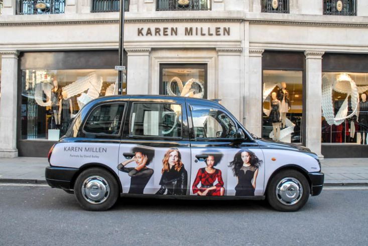 2013 Ubiquitous taxi advertising campaign for Karen Millen - Portraits By David Bailey