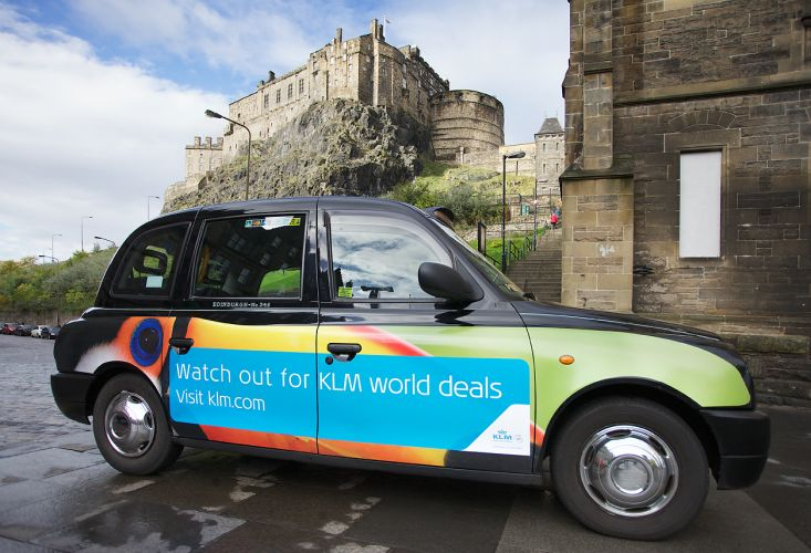 2013 Ubiquitous taxi advertising campaign for KLM - Watch out for KLM World deals