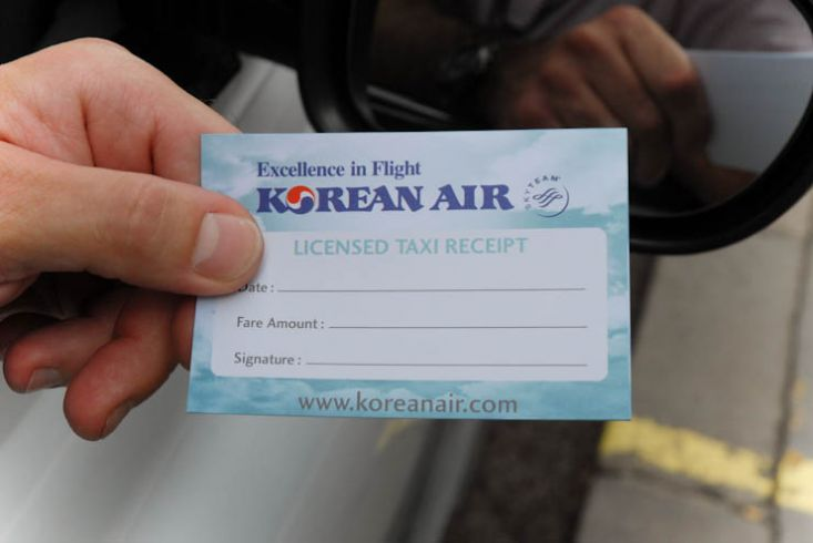 2011 Ubiquitous taxi advertising campaign for Korean Air - Experience service on a whole new scale