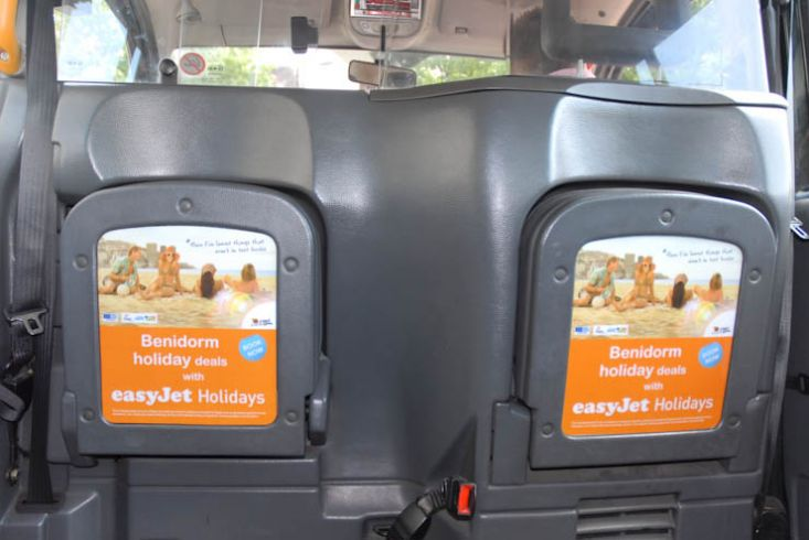2011 Ubiquitous taxi advertising campaign for Low Cost Holidays - Benidorm Holiday Deals with EasyJet Holidays