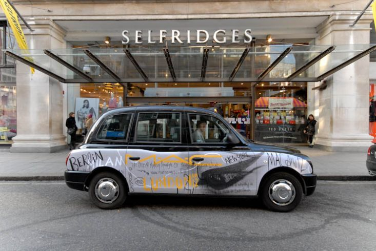 2012 Ubiquitous taxi advertising campaign for MAC - The Official Makeup Sponsor of London Fashion Week
