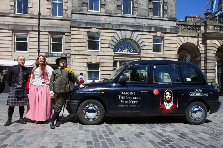 2013 Ubiquitous taxi advertising campaign for Mary King's Close - Imagine he knocked on your door