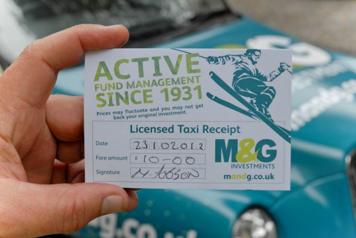 2012 Ubiquitous taxi advertising campaign for M&G - Active Fund Management Since 1931