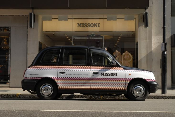 2009 Ubiquitous taxi advertising campaign for Missoni - Sloane Street Store