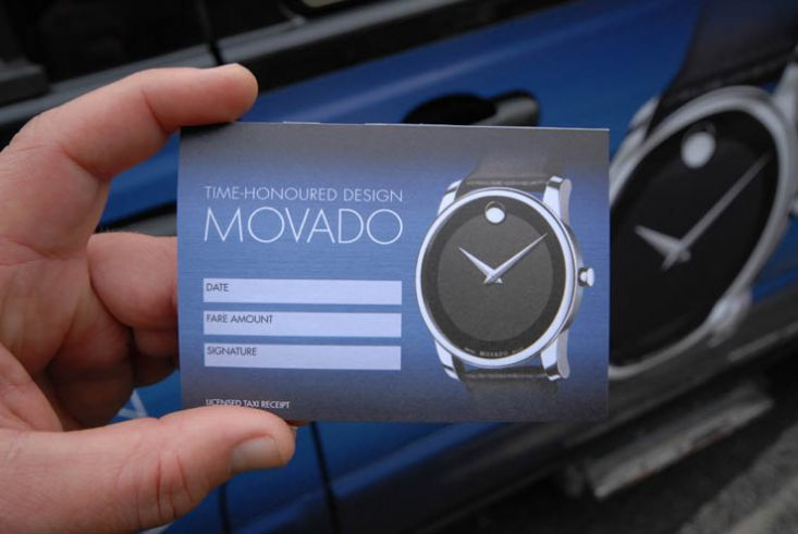 2013 Ubiquitous taxi advertising campaign for Movado Watches - Time-Honoured Design