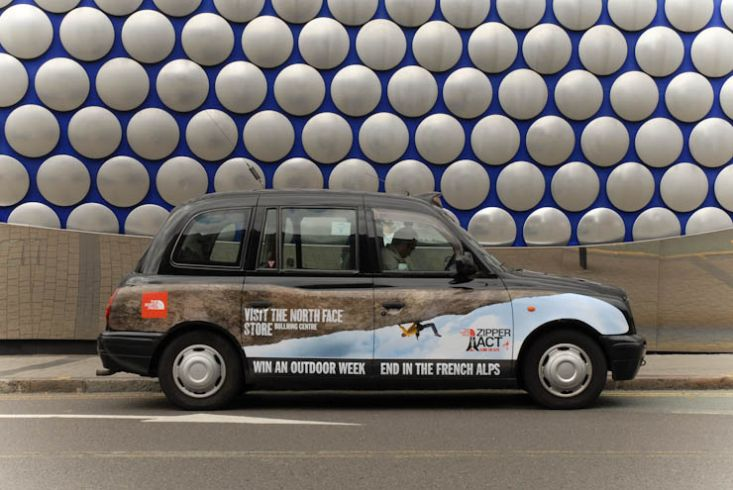 2011 Ubiquitous taxi advertising campaign for The North Face - Visit The Northface Store
