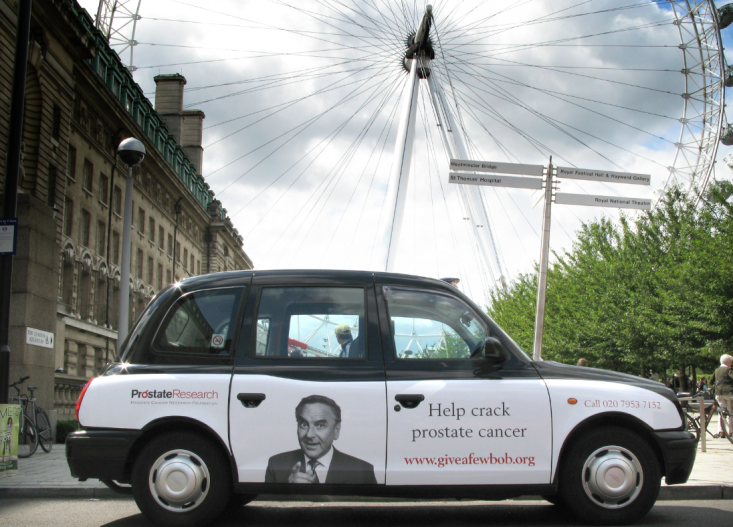 2008 Ubiquitous taxi advertising campaign for Prostate Cancer - Help Crack Prostate Cancer