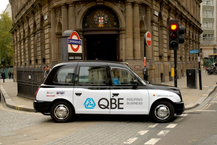2010 Ubiquitous taxi advertising campaign for QBE - Insuring Business