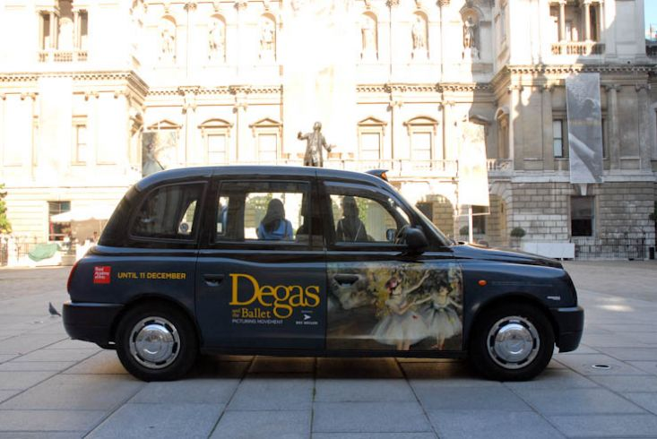 2011 Ubiquitous taxi advertising campaign for Royal Academy - Degas & The Ballet- Picturing Movement