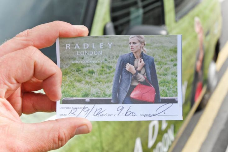 2012 Ubiquitous taxi advertising campaign for Radley - Radley London
