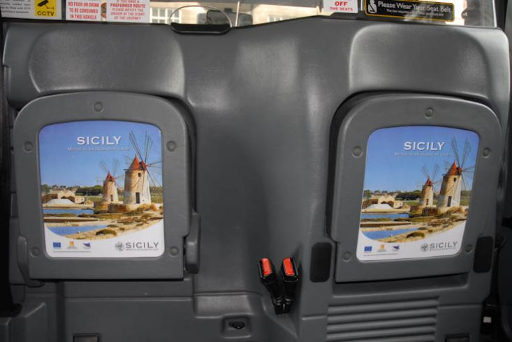 2011 Ubiquitous taxi advertising campaign for Regione Sicilia - Myths in an Island of Light