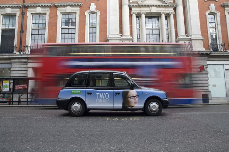 2006 Ubiquitous taxi advertising campaign for Specsavers - 2 for 1