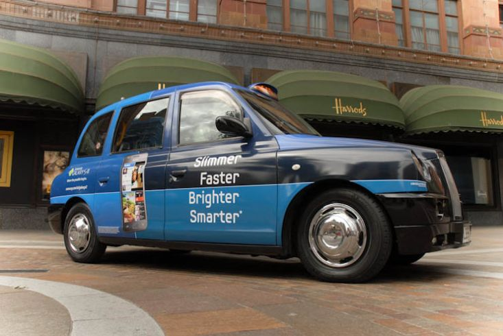 2011 Ubiquitous taxi advertising campaign for Samsung - Slimmer Faster Brighter Smarter