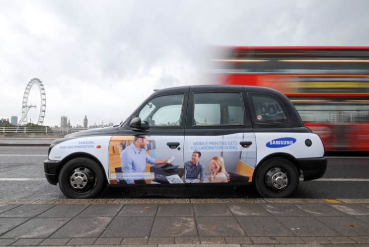 2013 Ubiquitous taxi advertising campaign for Samsung - Samsung printing innovation