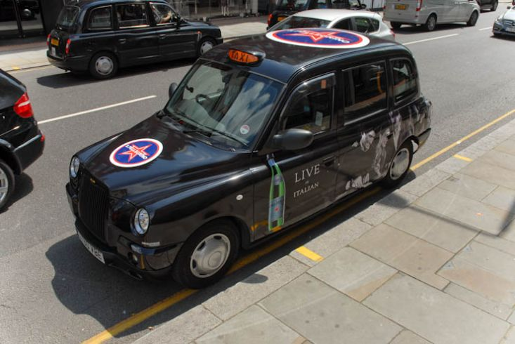2011 Ubiquitous taxi advertising campaign for San Pellegrino  - Live In Italian