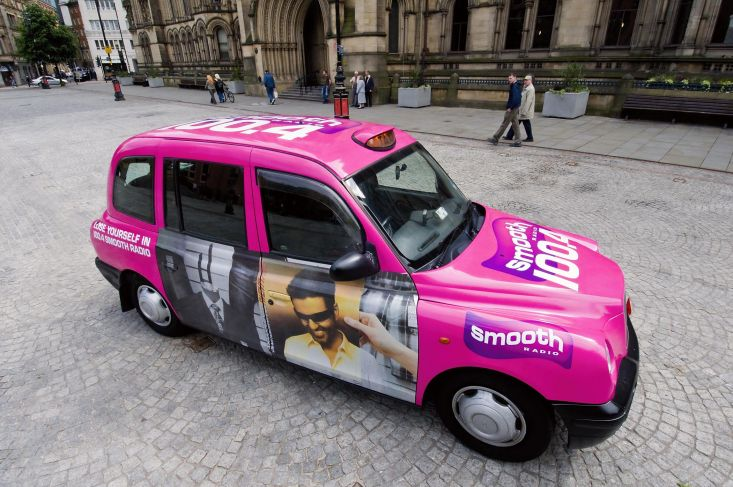 2007 Ubiquitous taxi advertising campaign for Smooth Radio - Smooth Ride