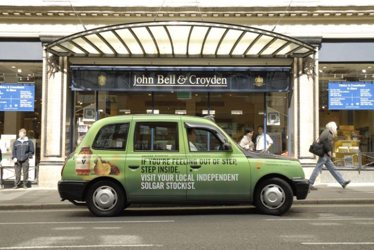 2007 Ubiquitous taxi advertising campaign for Solgar - Essentials for Life's Journey