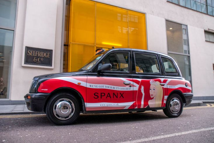 2013 Ubiquitous taxi advertising campaign for Spanx - We've Got Your Butt Covered!