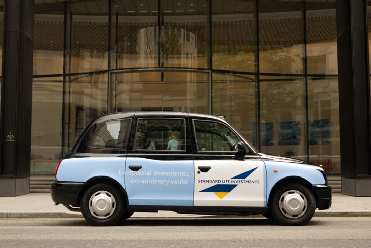 2007 Ubiquitous taxi advertising campaign for Standard Life - Exceptional investments extraordinary world