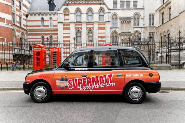 2012 Ubiquitous taxi advertising campaign for Supermalt - Energy that lasts