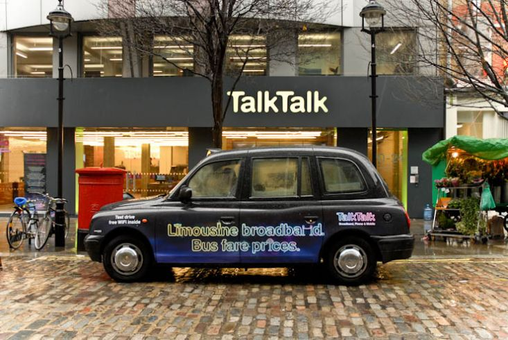 2011 Ubiquitous taxi advertising campaign for Talk Talk - Talk Talk