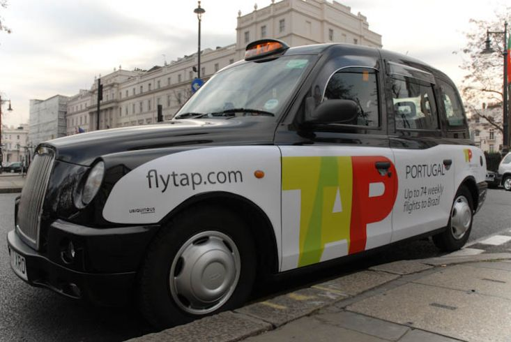2012 Ubiquitous taxi advertising campaign for TAP  - TAP Portugal