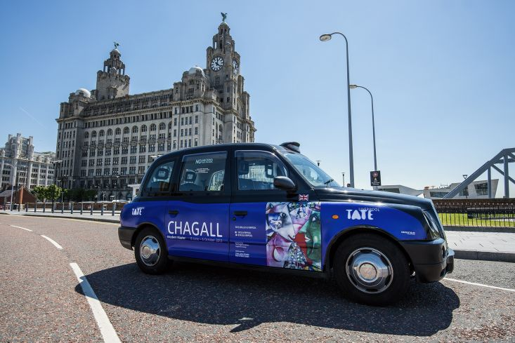 2013 Ubiquitous taxi advertising campaign for Tate Liverpool - Chagall - Modern Master