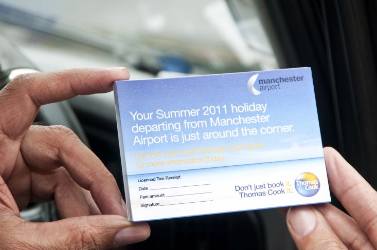 2011 Ubiquitous taxi advertising campaign for Thomas Cook - Take Off From Manchester Today...Take In Turkey Tomorrow